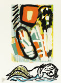 Fine Art - Painting, European:Contemporary   (1950 to present)  , KAREL APPEL (Dutch, 1921-2006). Tantrika, 1983. Lithographon paper. 30 x 22 inches (76.2 x 55.9 cm). Ed. 18/75. Signed ...