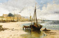 Fine Art - Painting, American:Antique  (Pre 1900), ANDREW MELROSE (American, 1826-1901). Cargo on the Beach.Oil on canvas. 20 x 30 inches (50.8 x 76.2 cm). Signed lower l...