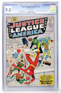 Silver Age (1956-1969):Superhero, Justice League of America #5 (DC, 1961) CGC NM- 9.2 Off-whitepages....
