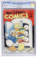 Golden Age (1938-1955):Cartoon Character, Walt Disney's Comics and Stories #35 (Dell, 1943) CGC VF 8.0 Creamto off-white pages....