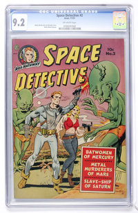 Space Detective #2 (Avon, 1951) CGC NM- 9.2 Off-white pages