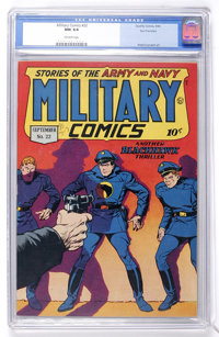 Military Comics #22 San Francisco pedigree (Quality, 1943) CGC NM 9.4 Off-white pages