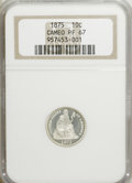 Proof Seated Dimes: , 1875 10C PR67 Cameo NGC. NGC Census: (4/0). PCGS Population (1/0).(#84772)...