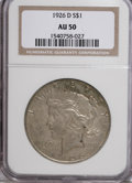 Peace Dollars: , 1926-D $1 AU50 NGC. NGC Census: (34/2616). PCGS Population(33/4295). Mintage: 2,348,700. Numismedia Wsl. Price for NGC/PCG...