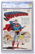 Golden Age (1938-1955):Superhero, Superman #40 (DC, 1946) CGC VF/NM 9.0 White pages....