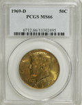 Kennedy Half Dollars: , 1969-D 50C MS66 PCGS. PCGS Population (90/3). NGC Census: (82/4).Mintage: 129,881,800. Numismedia Wsl. Price for NGC/PCGS ...
