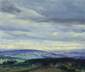 Fine Art - Painting, American, GEORGE WILLIAM SOTTER (American, 1879-1953). Cloud Study. Oil on artist's board. 10 x 12 inches (25.4 x 30.5 cm). Signed...
