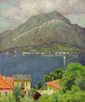 Fine Art - Painting, American:Modern  (1900 1949)  , CHARLES WARREN EATON (American, 1857-1937). View of LakeComo. Oil on canvas. 24 x 20 inches (61.0 x 50.8 cm). Signedlo...