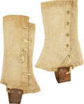 Military & Patriotic:Civil War, Rare Maker-Marked Pair of Union Army Issue Gaiters. ... (Total: 2 Items)