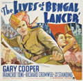 "Movie Posters:Adventure, The Lives of a Bengal Lancer (Paramount, 1935). Six Sheet (81"" X81"")...."
