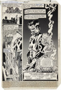 Original Comic Art:Splash Pages, Michael Golden and Terry Austin Doctor Strange #55 SplashPage 1 Original Art (Marvel, 1982)....