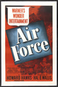"Movie Posters:War, Air Force (Warner Brothers, 1943). One Sheet (27"" X 41""). War.Starring John Garfield, Gig Young, Harry Carey, George Tobias..."