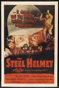 "Movie Posters:War, The Steel Helmet (PRC, 1951). One Sheet (27"" X 41""). War. StarringGene Evans, Robert Hutton, Steve Brodie, James Edwards, R..."