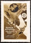 "Movie Posters:Adventure, The Flying Fleet (MGM, 1929). One Sheet (27"" X 41""). Adventure.Starring Ramon Novarro, Ralph Graves, Anita Page, Edward J. ..."