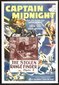 "Captain Midnight (Columbia, 1942). One Sheet (27"" X 41"") Chapter 2 -- ""The Stolen Range Finder."" Ser..."