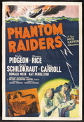 "Movie Posters:Crime, Phantom Raiders (MGM, 1940). One Sheet (27"" X 41""). Crime. Starring Walter Pidgeon (as Nick Carter, Private Detective), Flor..."
