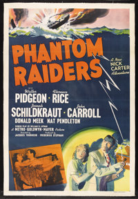 "Phantom Raiders (MGM, 1940). One Sheet (27"" X 41""). Crime. Starring Walter Pidgeon (as Nick Carter, Private De..."
