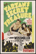 "Movie Posters:Adventure, Tarzan's Secret Treasure (MGM, R-1948). One Sheet (27"" X 41"").Adventure. Starring Johnny Weissmuller, Maureen O'Sullivan, J..."