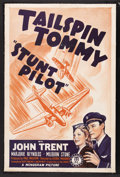 "Movie Posters:Adventure, Stunt Pilot (Monogram, 1939). One Sheet (27"" X 41""). Adventure.Starring John Trent, Marjorie Reynolds, Milburn Stone, Jason..."