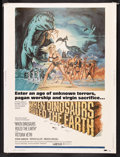 "Movie Posters:Fantasy, When Dinosaurs Ruled the Earth (Warner Brothers, 1970). Poster (30""X 40""). Fantasy. Starring Victoria Vetri, Robin Hawdon,..."