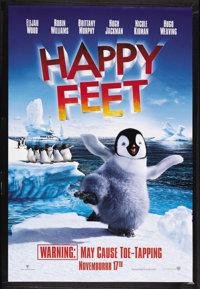 "Happy Feet (Warner Brothers, 2006). One Sheet (27"" X 40"") Double Sided. Animated. Starring Robin Williams , El..."