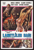 """Movie Posters:Adventure, Slave of the Cannibal God (New Line, 1979). Turkish Poster (27"""" X39.5""""). Adventure. Starring Ursula Andress, Stacy Keach,..."""