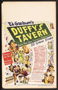 "Movie Posters:Comedy, Duffy's Tavern (Paramount, 1945). Window Card (14"" X 22""). Comedy. Starring Bing Crosby, Paulette Goddard, Betty Hutton, Ala..."