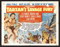 "Movie Posters:Adventure, Tarzan's Savage Fury (RKO, 1952). Half Sheet (22"" X 28""). ActionAdventure. Starring Lex Barker, Dorothy Hart, Patric Knowle..."