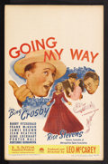 "Movie Posters:Academy Award Winner, Going My Way (Paramount, 1944). Window Card (14"" X 22""). MusicalComedy/Drama. Starring Bing Crosby, Barry Fitzgerald, Frank..."