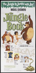 "Movie Posters:Animated, The Jungle Book (Buena Vista, 1967). Three Sheet (41"" X 81"").Animated Adventure. Starring the voices of Phil Harris, Sebast..."