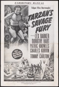 Movie Posters:Adventure, Tarzan's Savage Fury (RKO, 1952). Pressbook (Multiple Pages).Action Adventure. Starring Lex Barker, Dorothy Hart, Patric Kn...