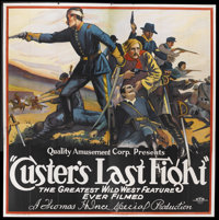 "Custer's Last Fight (Quality Amusement, R-1922). Six Sheet (81"" X 81""). Starring Francis Ford, Grace Cunard, W..."