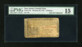 Colonial Notes:New Jersey, New Jersey February 20, 1776 6s PMG Choice Fine 15....