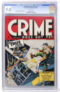 Golden Age (1938-1955):Crime, Crime Does Not Pay #35 (Lev Gleason, 1944) CGC VF/NM 9.0 Off-white pages. ...