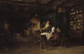 Fine Art - Painting, European:Antique  (Pre 1900), ALBERT MAIGNAN (French, 1845-1908). Dining Hall, 1870. Oil on canvas. 20 x 29 inches (50.8 x 73.7 cm). Signed and dated ...