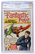 Silver Age (1956-1969):Superhero, Fantastic Four #10 (Marvel, 1963) CGC VF/NM 9.0 Off-white to white pages....
