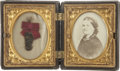 Autographs:U.S. Presidents, [Mary Todd Lincoln] Lock of Hair of Mary Todd Lincoln together with a copy photo of her, ...