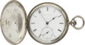 Political:Presidential Relics, Edwin M. Stanton's Coin Silver Hunting Case Pocket Watch. Key wound and set, lids with machine-turned lathework, inscribed...