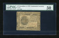 Colonial Notes:Continental Congress Issues, Continental Currency November 2, 1776 $7 PMG About Uncirculated50....