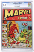 Golden Age (1938-1955):Superhero, Marvel Mystery Comics #7 (Timely, 1940) CGC VF 8.0 Off-white to white pages....