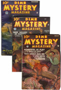 Pulps:Horror, Dime Mystery Magazine Group (Popular, 1935-38) Condition: AverageVG.... (Total: 6 Items)