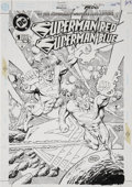 Original Comic Art:Covers, Dan Jurgens and Brett Breeding Superman Red/Superman Blue #13-D Cover Original Art (DC, 1998)....