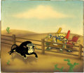 Animation Art:Presentation Cel, Ferdinand the Bull Presentation Cel and Background AnimationArt (Walt Disney, 1938)....