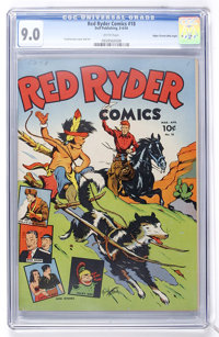 Red Ryder Comics #18 Mile High pedigree (Dell, 1944) CGC VF/NM 9.0 White pages