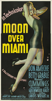 "Moon Over Miami (20th Century Fox, 1941). Three Sheet (41"" X 81"")"