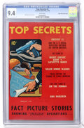 Golden Age (1938-1955):Crime, Top Secrets #2 Mile High pedigree (Street & Smith, 1948) CGC NM 9.4 White pages....