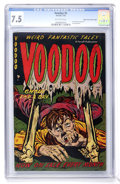 Golden Age (1938-1955):Horror, Voodoo #5 Mile High pedigree (Farrell, 1953) CGC VF- 7.5 Off-whitepages....