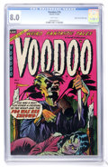 Golden Age (1938-1955):Horror, Voodoo #16 Mile High pedigree (Farrell, 1954) CGC VF 8.0 Whitepages....