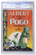 "Golden Age (1938-1955):Funny Animal, Four Color #148 Albert the Alligator and Pogo Possum - DavisCrippen (""D"" Copy) pedigree (Dell, 1947) CGC VF/NM 9.0 Off-white..."