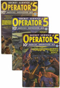 Pulps:Detective, Operator #5 Group (Popular, 1936-37) Condition: Average VG/FN....(Total: 5 Items)